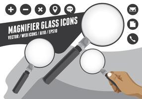 Icone di lente di ingrandimento
