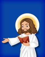personaggio dei cartoni animati di Gesù isolato