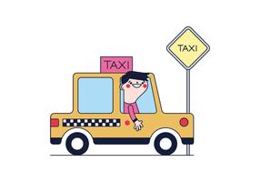 vettore di tassista