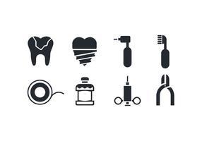Icone di cure odontoiatriche
