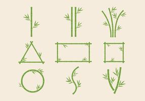 Vettore di steli di bambù