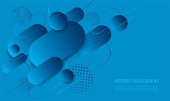 moderno design geometrico arrotondato sfumato blu