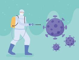 banner di disinfezione da virus
