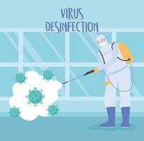 progettazione della disinfezione da virus