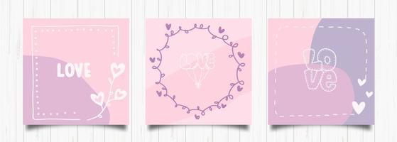 set di carte romantiche