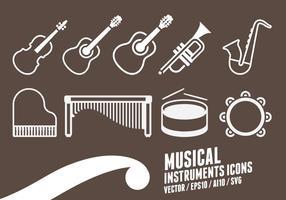 Icone degli strumenti musicali vettore