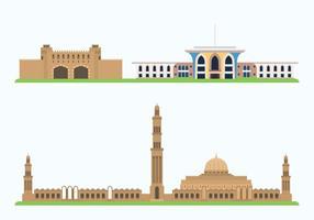 Oman Historic Showplace vettore