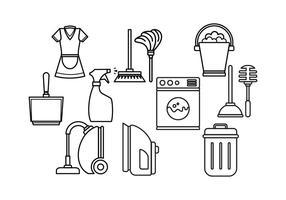 Icone vettoriali di cameriera