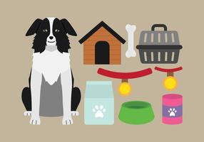 Icone dei rifornimenti del cane vettore