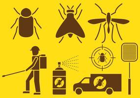 Icone di controllo dei parassiti vettore