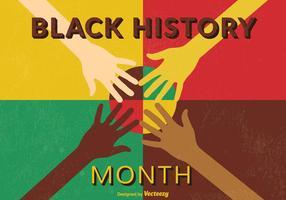 Retro manifesto di vettore di storia nera di mese
