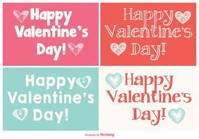 Carino mini collezione di carte di San Valentino vettore