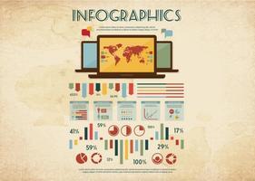 Vettore di infografica macchiato
