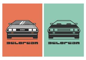 Vector DeLorean Car Illustration gratuito