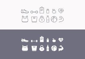 Set di icone di fitness vettoriale