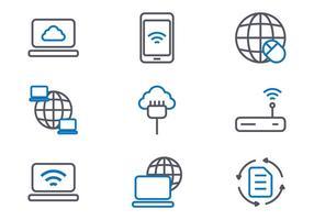 Icone di Internet vettore