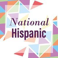 design del mese del patrimonio ispanico nazionale