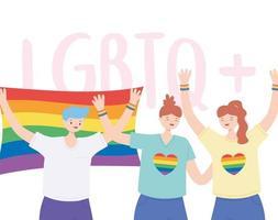 comunità lgbtq per la parata e la celebrazione dell'orgoglio