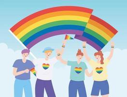 comunità lgbtq per la parata e la celebrazione dell'orgoglio vettore