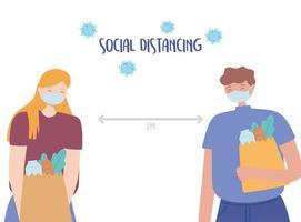 persone di distanza sociale