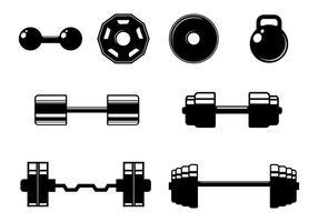 Vettore delle icone degli elementi di forma fisica