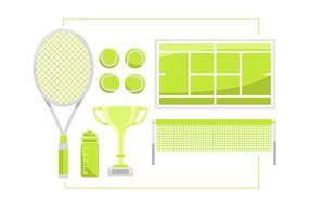 Set di articoli vettoriali da tennis