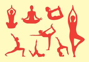 pacchetto di vettore di posa yoga