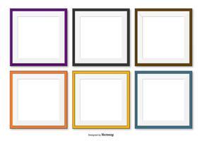 Collezione Square Frames vettore