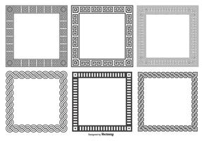 Collezione di cornici quadrate decorative vettore
