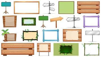 vari tipi di set di banner segno