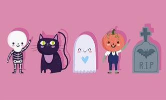 set di icone divertenti di Halloween