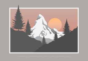 Sapin Tree and Mountain vettore