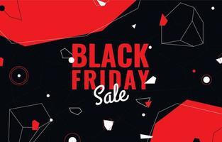sfondo di vendita venerdì nero in nero e rosso