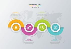 Illustrazione di elementi di infografica