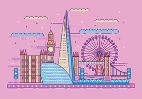 Illustrazione vettoriale The Shard e The London Skyline