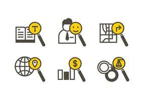 icona lupa ricerca vettoriali gratis