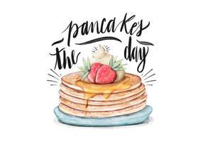 Illustrazione del giorno del pancake vettore