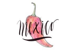 Illustrazione del paese del Messico vettore