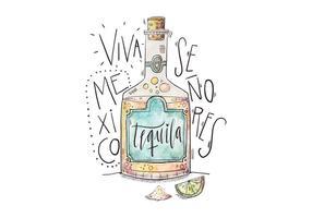 Illustrazione di Messico Tequila vettore
