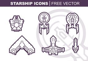 Pacchetto di icone vettoriali di astronave