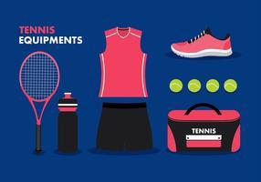 Vettore libero dell'attrezzatura di tennis