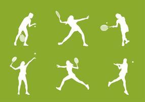 Tennis Silhouette vettoriali gratis