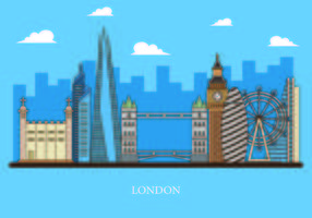 Vettore di The Shard e The London Skyline