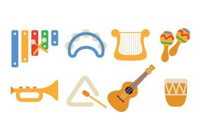 Vettore del pacchetto dell'icona dello strumento di musica