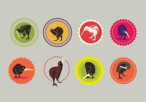 Set di icone vettoriali di kiwi