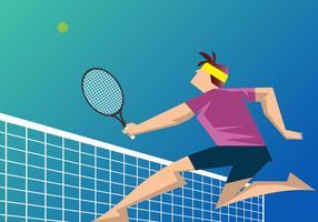 Giocatore di tennis vettore