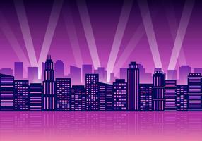 Illustrazione vettoriale di luci della città