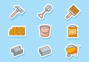 Vettore gratuito icone in muratura