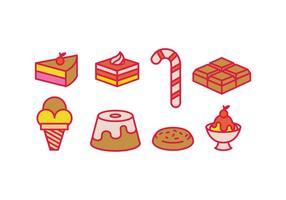 Icone di vettori dolci