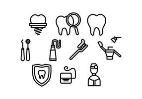 Vettore gratuito di dentista